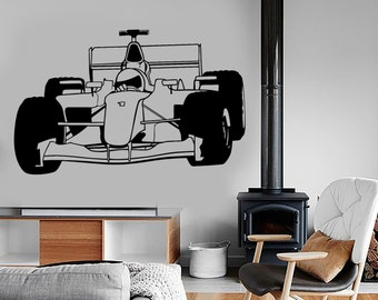 Wall Vinyl Decal Super Kart Karting Formula 1 Speed Racing Amazing Decor 1325dz