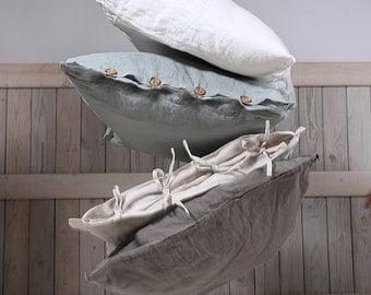 Organic pillow case / Linen pillow sham / Flax pillow cover