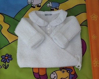 Bra vest wrap white knit