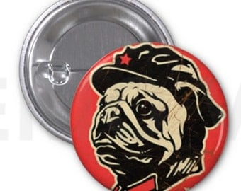 Obey The Pug- Button 1.25''