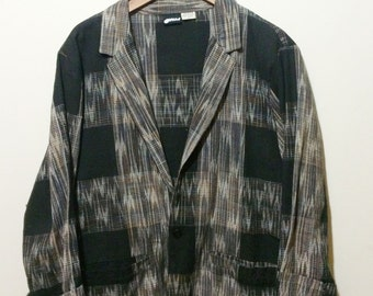 Patterned Lightweight Cotton Blazer//Size M