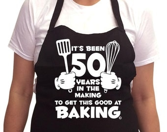 Women's 50th Birthday Apron 50 years in the Making 1966 50th Birthday Gifts *GIFT BOXED free of charge!*