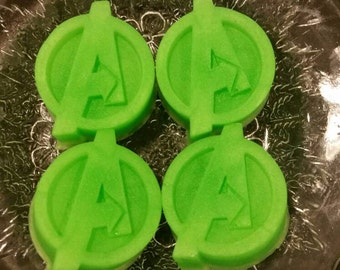 Avengers Soap / Comic Soap / Party Favors / Stocking Stuffers / Gift for Him / Gift for Her / Geeky Soap Set of 4