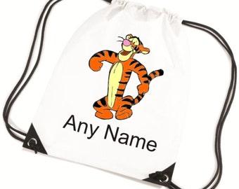 Personalised Childs TIGGER PE/Swim/School Bag