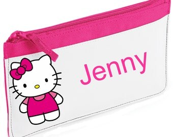 Personalised Hello Kitty With Bow Pencil Case