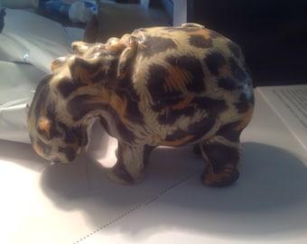 Swaziland Hippo candle, medium, vintage