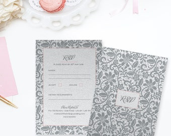 Vintage Lace Wedding RSVP