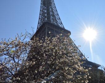 Eiffel Tower with Sun - Paris, France