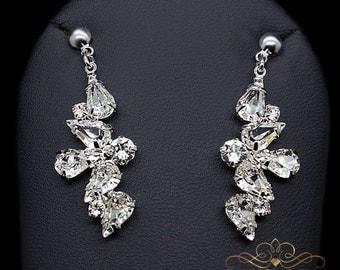 """Swarovski Earrings """"Theodora"""", Dangle Earrings, Crystal Earrings, Gift for her, Bridal earrings, Bridal jewelry, Wedding earrings, Jewelry"""