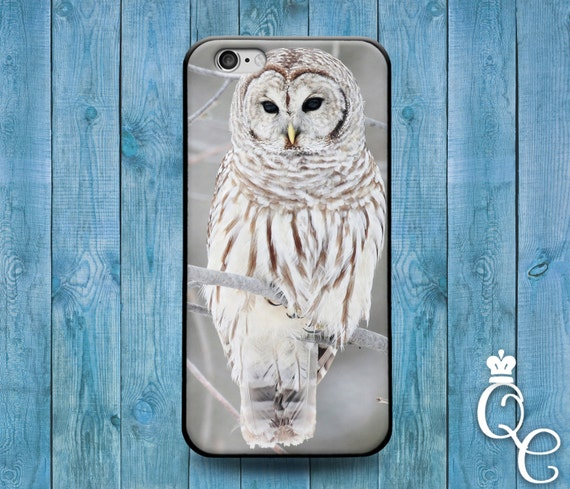 iPhone 4 4s 5 5s 5c SE 6 6s 7 plus iPod Touch 4th 5th 6th Generation Cute Beautiful White Snow Owl Bird Phone Cover Pretty Winter Case