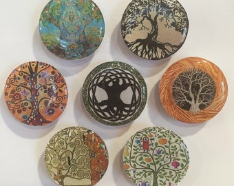Tree of Life Refrigerator Magnets - set of 7