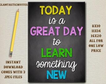 Classroom Decor, Teacher Decor, Learn something new, Reach for Success, Teacher Gift, Educational Decor, Classroom Decoration, School Sign