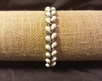White teardrop bracelet