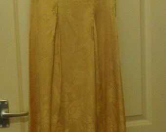 1960s gold full length evening dress, size small