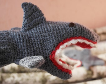 Hand Crocheted, shark, Clothing and Accessories, crochet Accessories, Gloves & Mittens, Gift Ideas TO ORDER for boy and girls, men and women