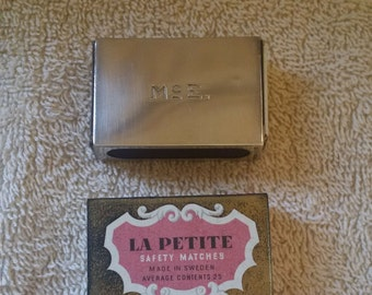Gorham Sterling Silver Matchbox Case Holder Cover La Petite Safety Matches Made in Sweden