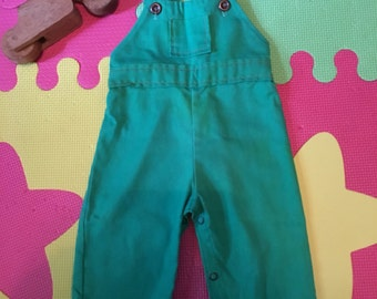 Vintage Green boy 9 month overall by Thomas