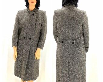Vintage70s wool tweed coat M / L 1970s winter overcoat retro mod madmen double breasted wool overcoat wool winter coat SunnyBohoVintage