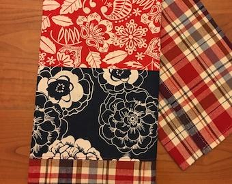 100% Cotton Embellished Tea Towel: Hawaiian Flowers