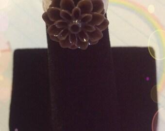 Fairy Kei Lolita Chocolate Flower Ring