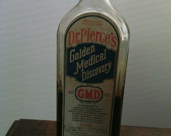 Dr. Pierce's Golden Medical Discovery vintage medicine bottle