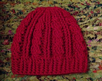 Bamboo Silk Cabled Crocheted Hat