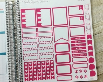 Pink Vertical Life Planner No Shading Theme - Full Page ~ 3251F ~