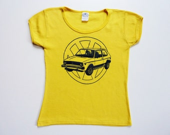 Vintage 70's Tee-Shirt Volkswagen Rabbit Golf 1 Yellow
