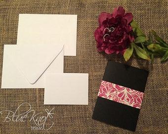 DIY Wedding Invitation Suite - Belly Band Design