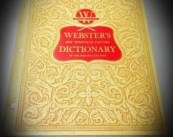 1957 webster's new twentieth century dictionary unabridged version deluxe edition