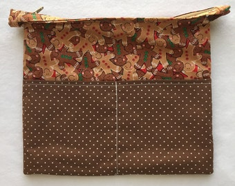 Planner Carryall Bag (Gingerbread/Red/Green)