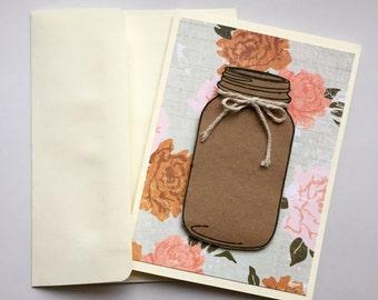 Mason Jar Blank Card Set
