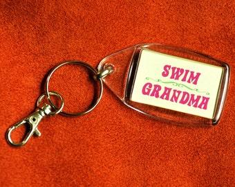 Swim Grandma Keychain