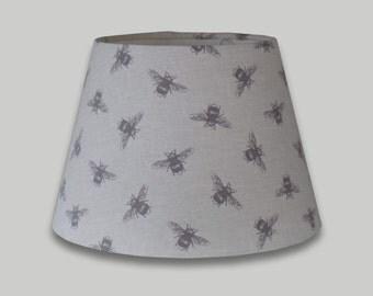 Bumble Bees Cream Grey Empire TaperedTable Lampshade Ceiling Lightshade lamp shade  25cm 30cm 35cm 40cm 50cm 60cm 70cm