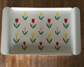 Cream Tulip Tray