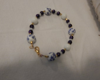 Glass Pearl beaded Bracelet