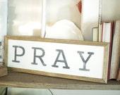 """Pray 12"""" Handpainted..."""