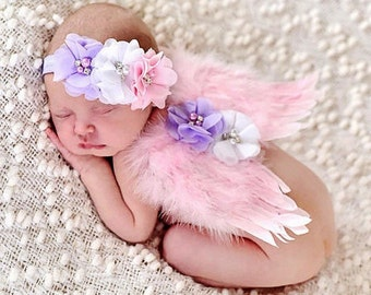 Baby Girl Angel Wings Set
