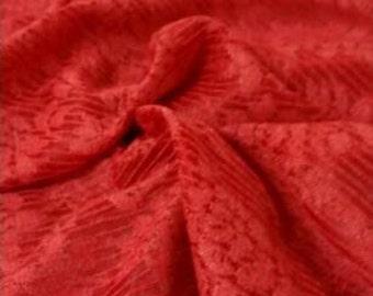 Tomato Red Jacquard Knit