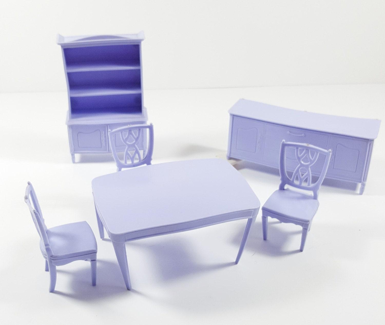 Vintage Plastic Dollhouse Furniture Lilac Light Purple