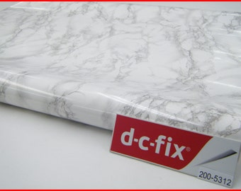 Contact Paper DC FIX 90CM X 2M White Background Marble Self Adhesive Vinyl Sticky Back Film New 200-5312