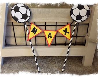 Customizable Soccer Cake Topper