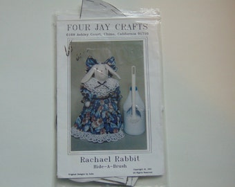 Rachael Rabbit Hide A Brush Craft Doll by Four Jay Crafts