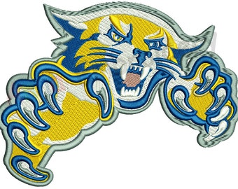 Wildcat Machine Embroidery Design,filled stitch,machine patterns, 9 SIZES,INSTANT DOWNLOAD