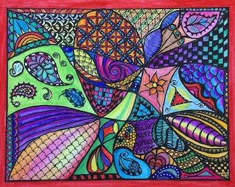 Zen Doodle Art Note Card Set #1 (4 designs, 8 cards and envelopes)