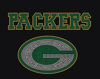 Green Bay Packers Applique Bling Rhinestone