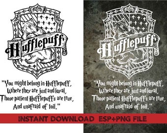 Hufflepuff  Home quote Clip Art,T shirt, iron on , sticker, Vectors files ,Personal Use