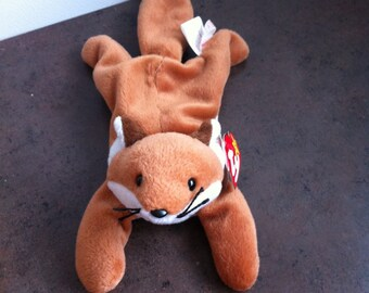 Vintage Ty Beanie Baby - Sly The Fox - Ty Original - Childs Toy - Soft Stuffed Toy Fox - Gift for the Collector