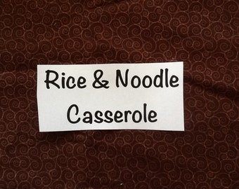 Rice and Noodle Casserole