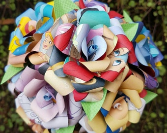 The Little Mermaid Book Bouquet-Decor-Wedding-Bridal Bouquets-Book lover gift-Disney- Valentines